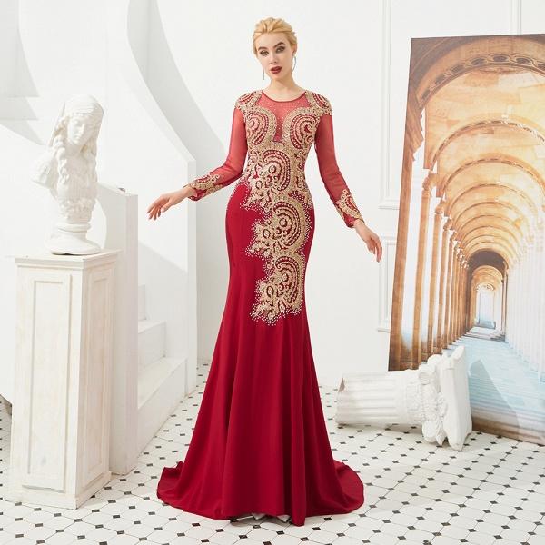 Attractive Jewel Tulle Mermaid Prom Dress_18