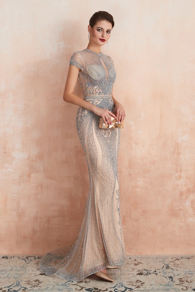 Marvelous Jewel Tulle Mermaid Prom Dress_9