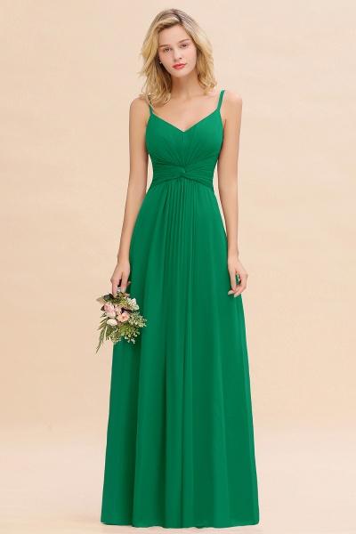 BM0762 Elegant A-line Ruffles Spaghetti Straps Bridesmaid Dress_49