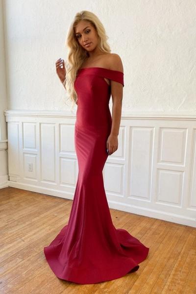 Fascinating Off-the-shoulder Satin Mermaid Evening Dress_1