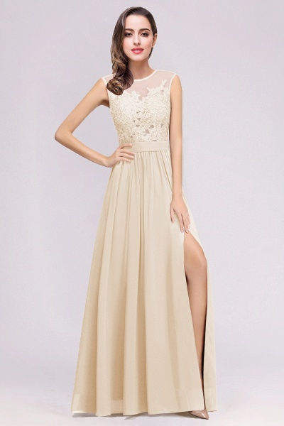 Lace Chiffon Floor-Length A-line Bridesmaid Dress_6