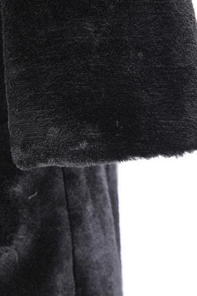 Women's Daily Street Hooded Long Faux Fur Coat_8