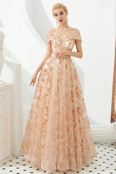 Graceful Off-the-shoulder Tulle A-line Prom Dress_2