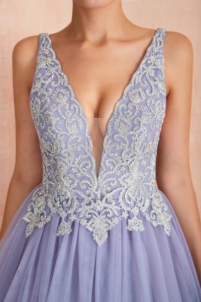 Excellent V-neck Tulle Princess Prom Dress_8