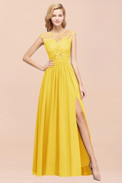 A-line Chiffon Lace Jewel Sleeveless Floor-Length Bridesmaid Dresses with Appliques_17