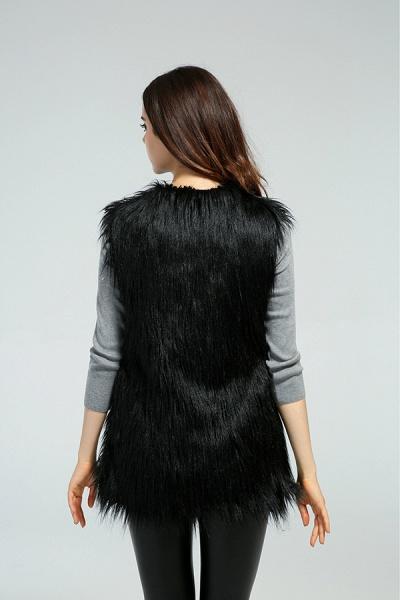 Women's Daily Fall & Winter Faux Fur Vest Coat_8