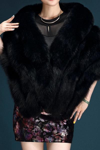 Women's Going out Winter Short Fur Coat_4