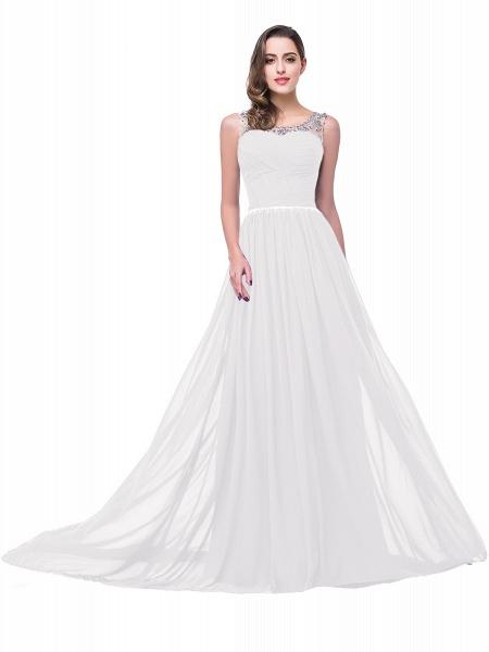 Precious Jewel Chiffon A-line Evening Dress_1