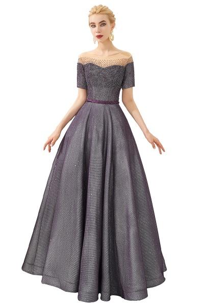 Fascinating Jewel Bright silk Princess Prom Dress_1
