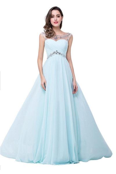 A-line Sweetheart Crystal Chiffon Evening Dress_9