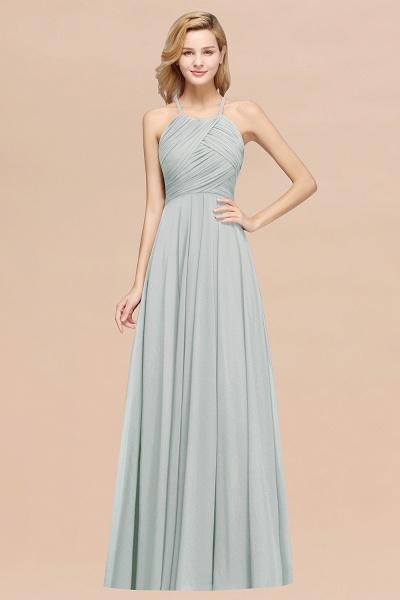 A-Line Chiffon Halter Ruffles Floor-Length Bridesmaid Dress_38