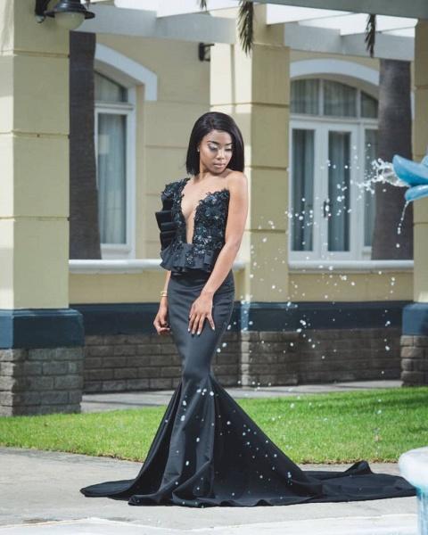 Stylish Jewel Sleeveless Appliques Mermaid Prom Dresses | Sexy Long Evening Dresses_3