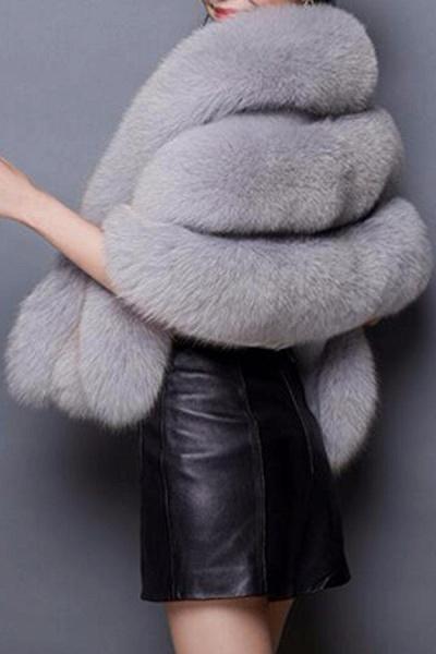 Women's Going out Winter Short Fur Coat_5