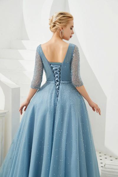 Chic V-neck Tulle A-line Prom Dress_10