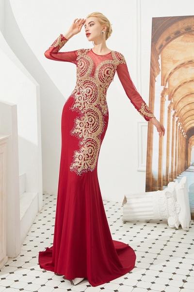 Attractive Jewel Tulle Mermaid Prom Dress_2