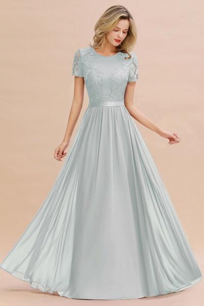 BM0831 Chiffon Lace Scoop Short Sleeve Bridesmaid Dress_38
