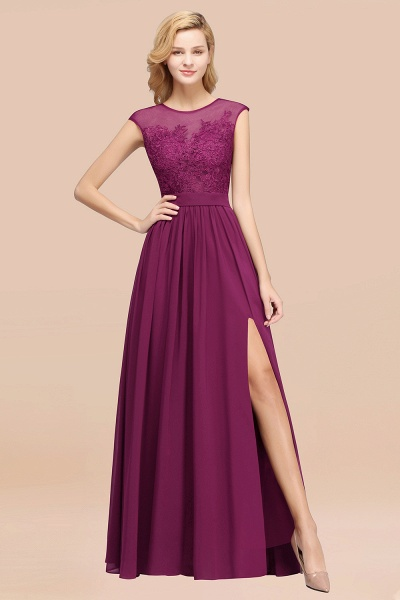A-line Chiffon Lace Jewel Sleeveless Floor-Length Bridesmaid Dresses with Appliques_42