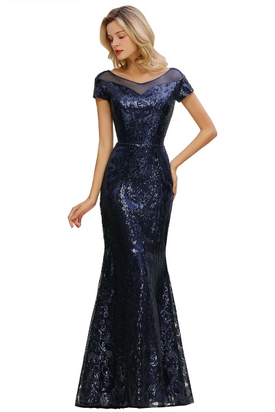 Elegant Jewel Tulle Mermaid Prom Dress_1