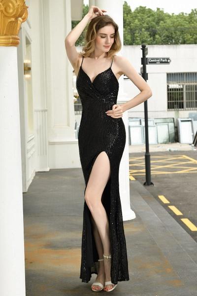 Amazing Spaghetti Strap Split Sequins Prom Dress_10