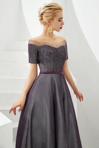 Fascinating Jewel Bright silk Princess Prom Dress_5