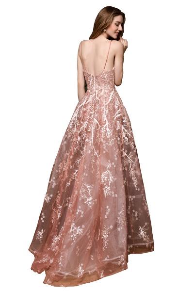 Dusty Pink Spaghetti Strap A-line Lace Prom Dress_13