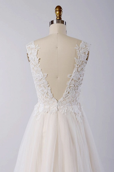 Awesome Appliques Tulle A-line Wedding Dress_5