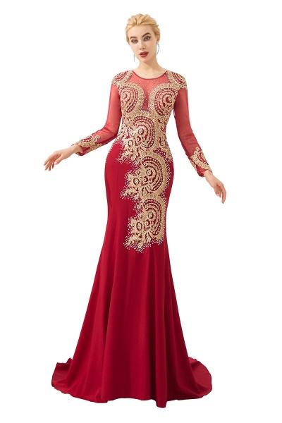 Attractive Jewel Tulle Mermaid Prom Dress_1