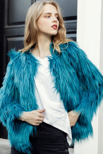 Women's Winter Daily Fashion Street Faux Fur Coat_17