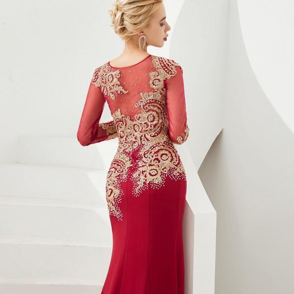 Attractive Jewel Tulle Mermaid Prom Dress_15
