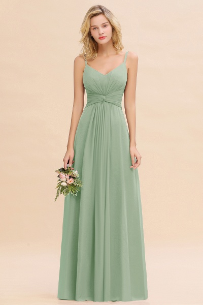 BM0762 Elegant A-line Ruffles Spaghetti Straps Bridesmaid Dress_41