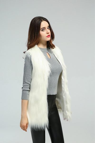 Women's Daily Fall & Winter Faux Fur Vest Coat_10