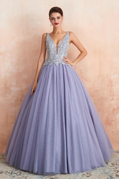 Excellent V-neck Tulle Princess Prom Dress_7