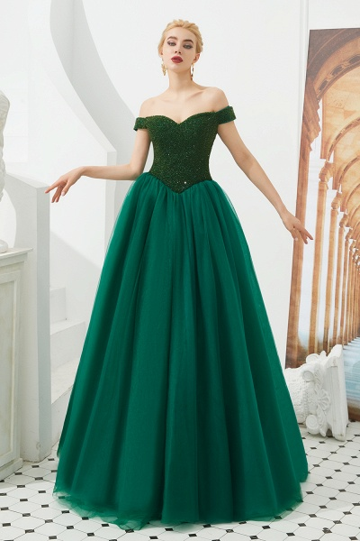 Glorious Off-the-shoulder Tulle A-line Prom Dress_8
