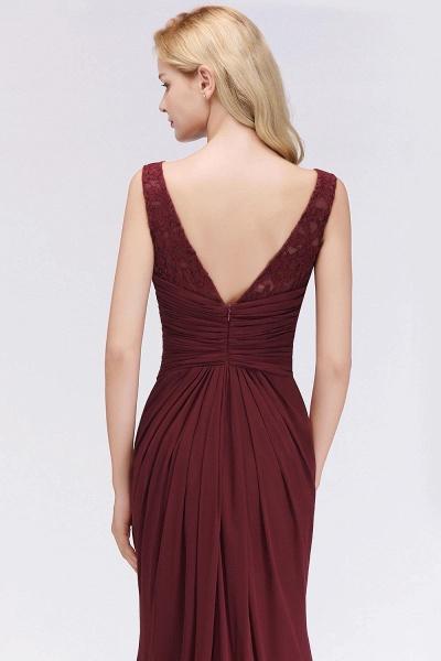 Mermaid Burgundy Chiffon Ruffles Evening Dress_4