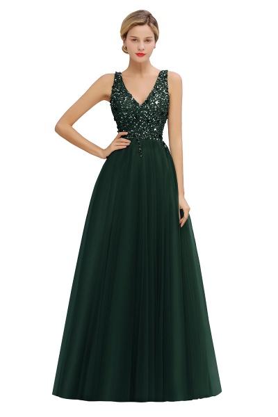 Fabulous V-neck Tulle A-line Prom Dress_4