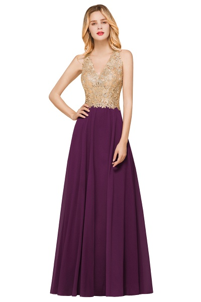 Awesome V-neck Chiffon Evening Dress_3