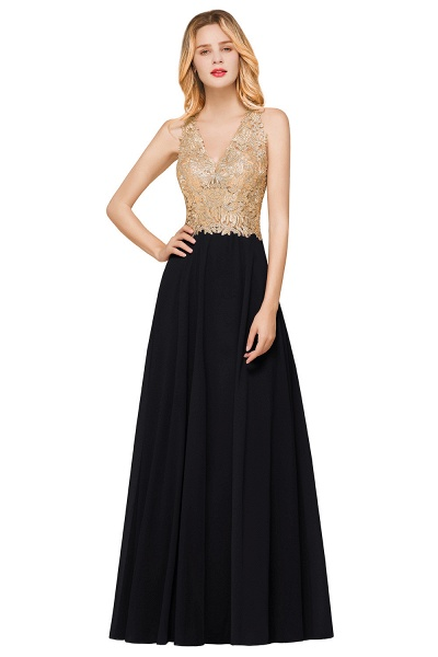 Awesome V-neck Chiffon Evening Dress_6