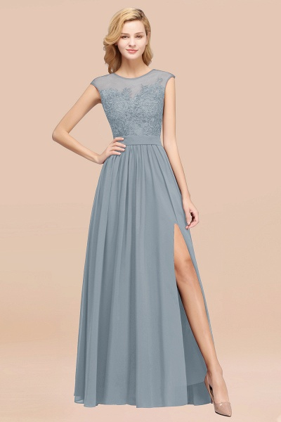 A-line Chiffon Lace Jewel Sleeveless Floor-Length Bridesmaid Dresses with Appliques_40