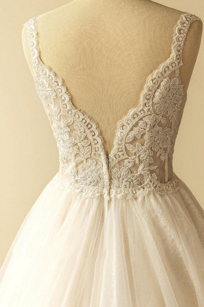 Awesome Sweetheart Appliques A-line Wedding Dress_5