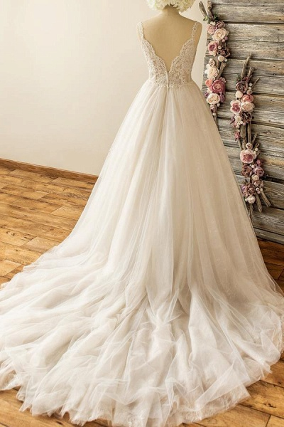 Awesome Sweetheart Appliques A-line Wedding Dress_3