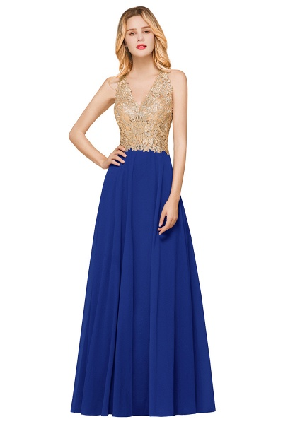 Awesome V-neck Chiffon Evening Dress_4