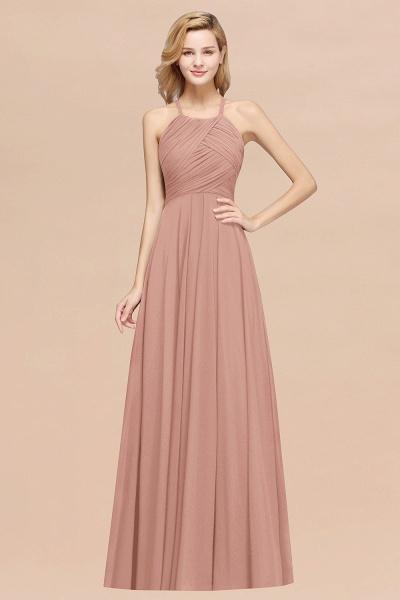 A-Line Chiffon Halter Ruffles Floor-Length Bridesmaid Dress_6