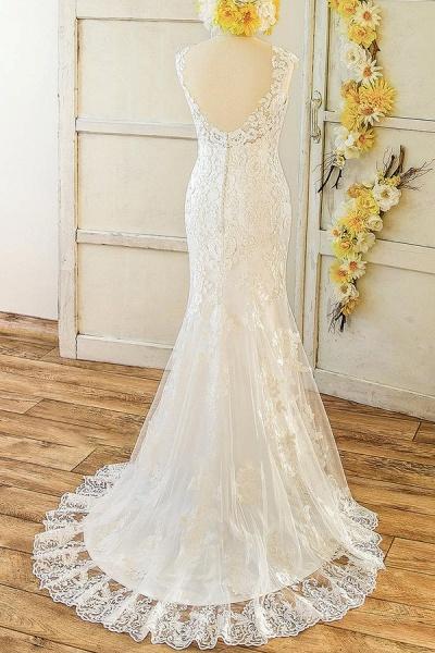 Eye-catching Sweetheart Lace Mermaid Wedding Dress_3
