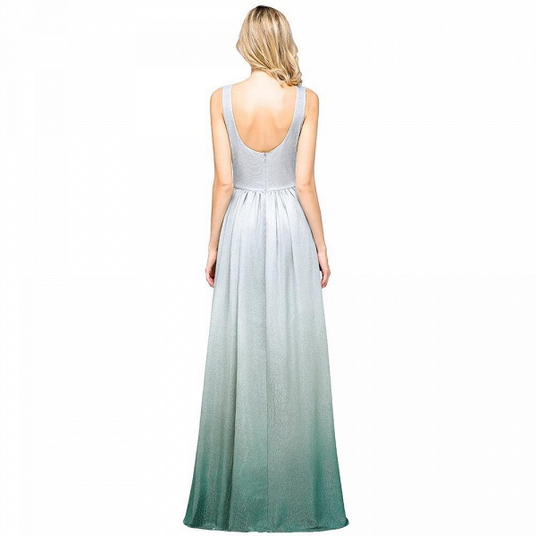 A-line Ruffles V-Neck Long Evening Dress_6