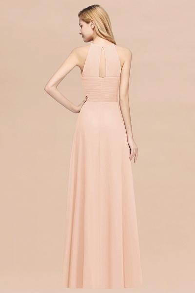 A-Line Chiffon Halter Ruffles Floor-Length Bridesmaid Dress_5