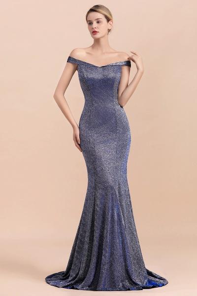 Stunning Bling Sweep Train Mermaid Long Prom Dress_7