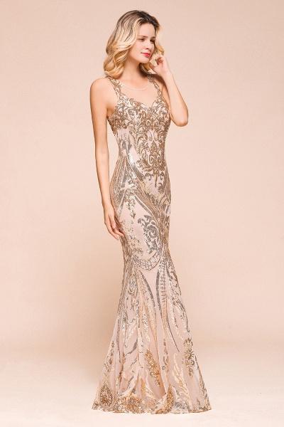 Amazing Illusion Sequins Tulle Mermaid Prom Dress_5