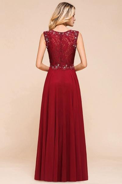 Elegant Lace Top Chiffon A-line Long Prom Dress_3
