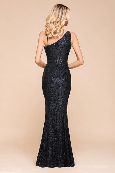Sleek One Shoulder Split Sequins Mermaid Prom Dress_3