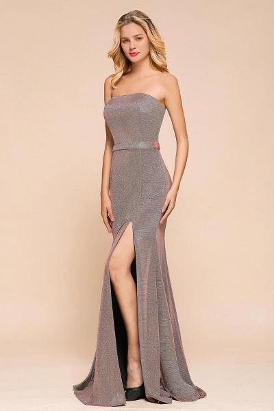 Elegant Strapless Front Split Mermaid Prom Dress_6